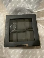 WOLF Black Stackable 6 Piece Watch Tray With Glass Lid GET IT FAST ~ US SHIPPER