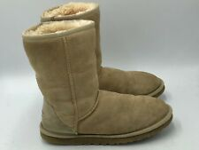 Ugg Austraila 5825 Classic Short Womens Sand Suede Shearling Boots Size 6