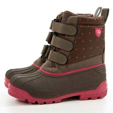 Sherwood Forest Dandy Boot - Chocolate/Pink- Kid's winter waterproof boots