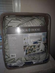 HARBOR HOUSE LORELAI DUVET COVER KING/CAL KING SIZE-WHITE,GREEN, BLUE, TROPIC.