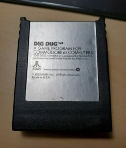 Dig Dug Cartridge for Commodore 64, Tested and Working