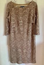 RN Studio by Ronni Nicole Tan Sequin Cocktail Dress, Size 6