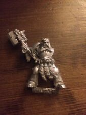 Space Wolves Blood Claw Sergeant With Power Axe Warhammer 40k Metal OOP GW