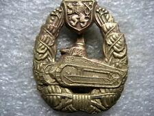 .Czechoslovakia Army Badge Tank Corps pre ww2