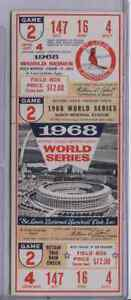 1968 WORLD SERIES GAME 2 TIGERS at CARDINALS FULL TICKET  LOLICH Win