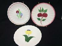"Blue Ridge Southern Potteries SPI Plate Lot 3 Asst 6-1/2"" Floral Apple Harvest"