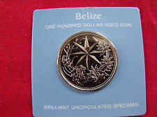 Belize $100 Gold Coin Christmas Star Uncirculated Box & COA Rare Mintage 400