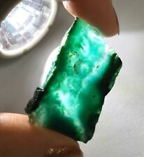 8.2 Grams ~ Gem Silica Chrysocolla Rough slab slice ~ Ray Mine Arizona