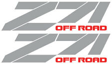 "REFLECTIVE Z71(A) off road chevy GMC RACING Silverado truck decal sticker 15""x4"""