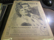 GRIT STORY SECTION - 9/8/1940 - CHECKERBOARD LOVE - OPENING INSTALLMENT