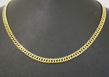 """9ct Yellow Gold 20"""" Double Curb Link Necklace / Chain 5mm Width"""