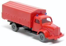 Mesureur Réplique Mercedes Mb L 3500 Pick-up Bâche GW camion pompier rouge 1:87 h0