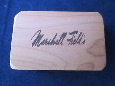 """MARSHALL FIELD'S Cedar Wood Block 1"""" tall x 3"""" x 2"""" ~ RARE ~ VINTAGE"""