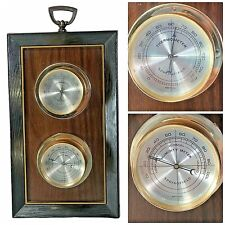 Springfield weather station Duo Thermometer with Humidity Meter Faux Wood USA