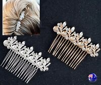 Women Lady Wedding Gold Silver Color Bride Night Crystal Hair Comb head piece