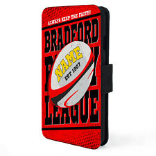 Rugby League iPhone Case Retro X, 11,SE Wallet Cover Personalised Gift ALL TEAMS