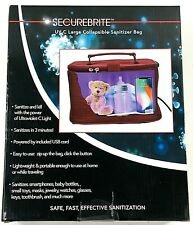 UV Clean Portable Sanitizer Bag SECUREBRITE UVC Collapsible with Cord NEW SEALED