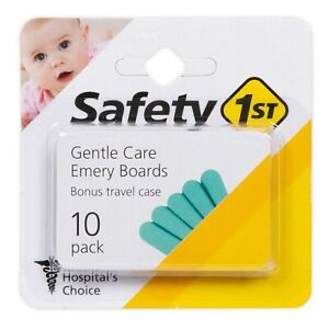 Safety 1st Emery Boards with Travel Case 10-Pack