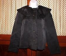 LANVIN women's Black Silk BLAZER Jacket  size 36 EUR