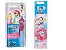 Braun Oral-B Vitalidad Princesa para niños cepillo de dientes eléctrico + 4 Cabezales Extra Nuevo