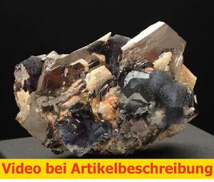 7156 Pyrrhotin pyrrhotite Fluorit fluorite  ca 5*7*5 cm  Yindu China 2019 MOVIE