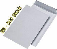 500 Versandtaschen DIN B5 HK Briefumschläge Haftklebung B5 HK weiß 176x250 mmTOP