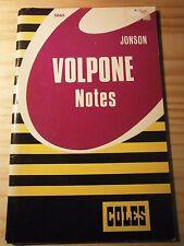 "Coles Notes on Ben Jonson's ""Volpone"""