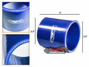 """BLUE 2.5"""" 63mm 3-ply Silicone Hose Coupler Turbo Intake Intercooler For Acura"""