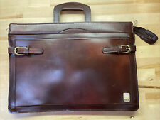 Vintage Burgundy Airway Industries Briefcase Attache Airlines Expandable Bag