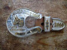 Rare Bishop Mule Days 2000 World Champion Trophy Sterling Ranger Belt Buckle Set
