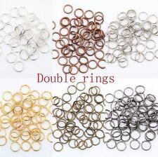 200-450 Pcs Metal Split Rings 4/5/6/8/10/12mm Lots Jewelry Making DIY