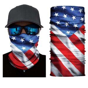 Balaclava Cycling Neck Tube Scarf Snood Biker Face Mask Bandana USA Flag