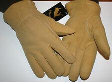 Medium Natural Deerskin Suede Split Leather HeatLok U-100 Insulated Gloves