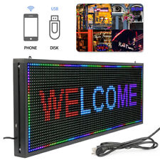 40 x 15 inch Hanging LED Open Sign Full Color Display Scrolling Indoor