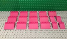 LEGO Bulk Lot of 17 Magenta Roof Slopes 33° 3x2 and 3x4 from Set #3315, 41052