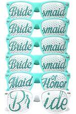 Set of 6 - Aqua Wedding Sunglasses - Bride To Be - Hen Night Party Do Glasses