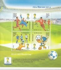 (44801) India MNH Football FIFA Minisheet 2014 Unmounted mint