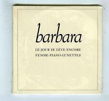 2 X CD SINGLE PROMO (NEUF) BARBARA LE JOUR SE LEVE ENCORE/FEMME PIANO LUNETTES