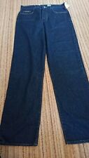 BNWT Calvin Klein Blue Womens Jeans Size 14 W32 L32 Button Fly 12in Rise