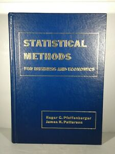 Statistical Methods : For Business and Economics Pfaffenberger 1977 1st Edition