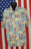 Rare VTG Tori Richard Honolulu Made Hawaii Hawaiian Shirt Tiki Aloha Laua XL EUC