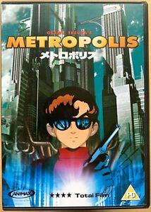 Metropolis DVD 2001 Classic Futuristic Sci-Fi Japanese Manga Anime Cult Movie