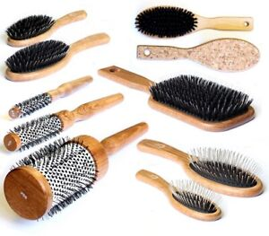 Salon Professional Wooden Antistatic Hairdressing Styling Hair Extensions Brush
