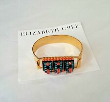 Elizabeth Cole Miley Swing Bracelet Swarovski Crystals 14K Gold Plated
