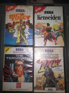 Lot of 4 Genuine Sega Master System Games In Cases - Complete With Manual bundle