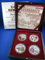 2003 $2 TUVALU SILVER PROOF COIN 2oz - THE AUSTRALIAN BUSHRANGER - FOUR COIN SET