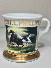Rare Victorian Gold Gilded Shaving Mug Hand Painted Devry B.S. Co.
