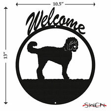Swen Products Goldendoodle Black Metal Welcome Sign
