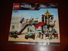 LEGO PRINCE OF PERSIA (le sabbie del tempo) 7571 la lotta per il pugnale manuale