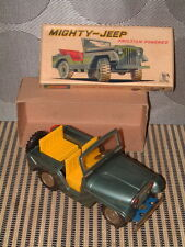 VINTAGE SSS INTERNATIONAL MIGHTY JEEP, TIN, FRICTION DRIVEN MODEL IN BOX! SWEET
